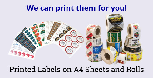 Blank Labels - Paper labels, Coloured labels, Bottle labels, Waterproof labels, Synthetic labels, Plastic Labels, Clear labels.